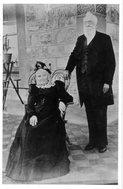 Sophia and George Ellis  (my great-great grandparents).  Undated (190x?)