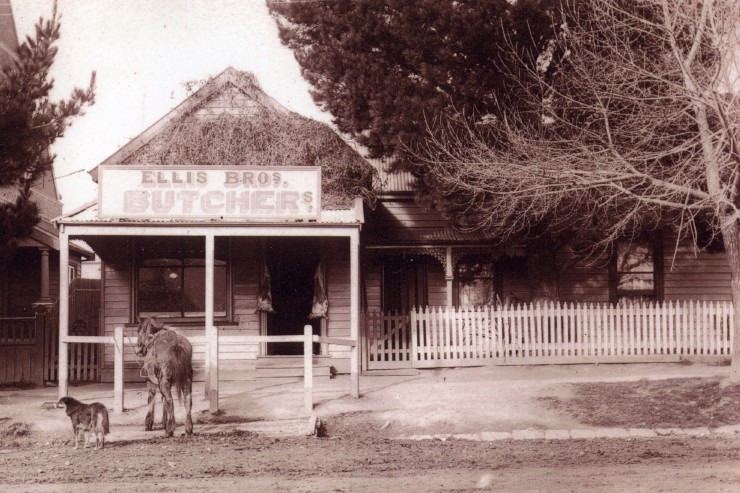 Ellis Brothers Butchers, Loch, Gippsland, Victoria.  1913