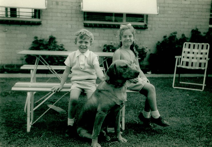 Myself and Cindy at the Cameron's in Dandenong, 1969(?).