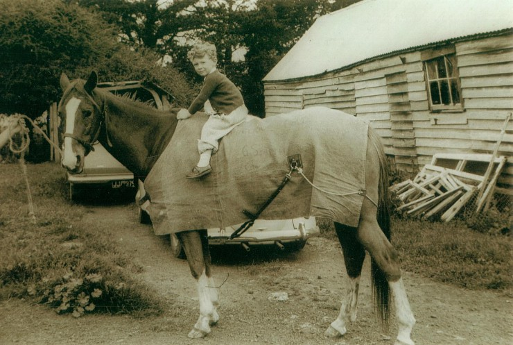 Me on Don and Bev Smith's show jumper, Precious Gold, at Craigieburn, around 1967.