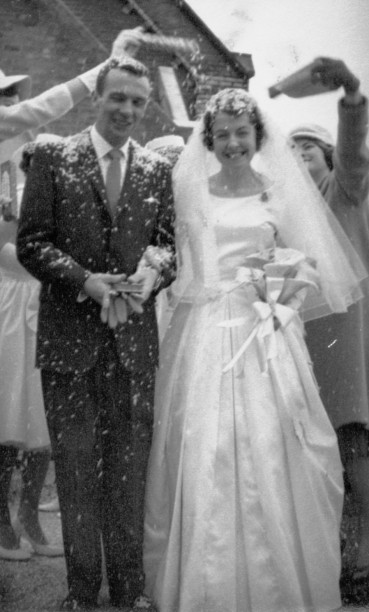 Wedding of my parents, Jill Mary Ellis and Wallace Duncan Campbell, September 17, 1960 in Dandenong.