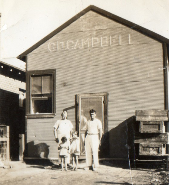 The Campbell Bakery in Rankins Springs. (lr) Alexander Duncan Campbell,