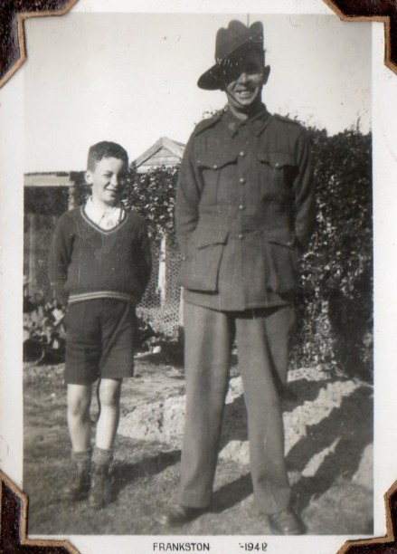 Dad and Grandpa, in Frankston after Grandpa enlisted.